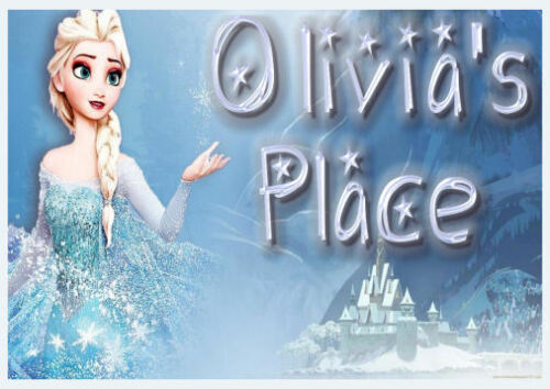 PERSONALISED ELSA FROZEN PLACEMAT /& COASTER IDEAL STOCKING FILLER FOR A PRINCESS