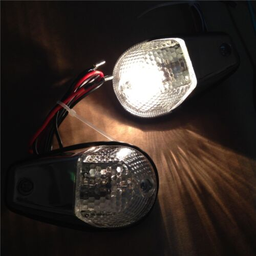 Clear Flush Mount Motorcycle Turn Signals Blinker Light For Universal Sportbikes