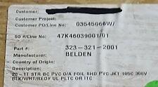 Belden Y64253 201t Shielded Triad Instrumentation Tray Cable E1 Pltc Itc 300v