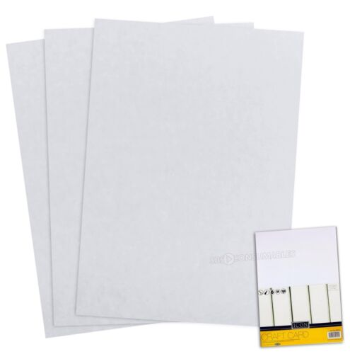 50 Sheets of Icon A4 160gsm White Craft Card Quality Medium Thickness Smooth