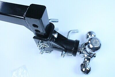 """H D Tri-ball Swivel Adjustable Trailer Tow Drop Hitch Ball Mount   2/"""" Receiver"""