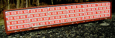 """Atlas ExactRail centerbeam HO SCALE:/""""Tolko/"""" lumber load for Walthers"""