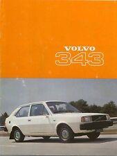 Volvo 343 1976-77 Original UK Market Sales Brochure No. ASP/BV 3109-77