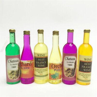 2Pcs 1:12 miniature wine vodka bottles doll house decor accessor~PL