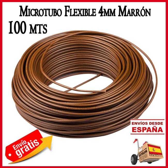 MICrojoUBO 4X6MM TUBO RIEGO MACETAS 100 METROS AGRICOLA marrón GOTEO POLIETILENO