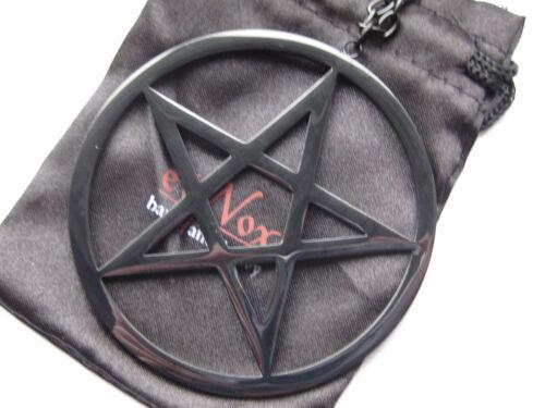 Details about  /Nox Big Plain Pentagram+Chain+Jewellery Bags Stainless Steel Black Big Ks 026