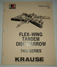 Krause 7400 Series Flex Wing Disc Harrow Owners Operators Parts Manual Original