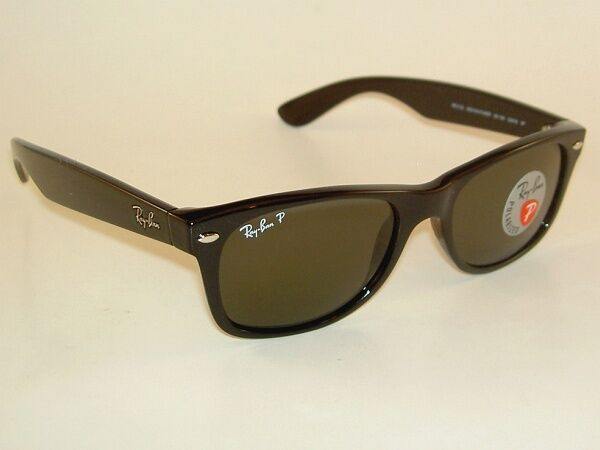 fa8aa7da874 Ray Ban Wayfarer RB 2132 901/58 Black Sunglasses Green Polarized 55mm Hc22  for sale online | eBay