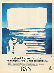 Publicite 1966 BSN Boussois Souchon Neuvesel Le Nouveau