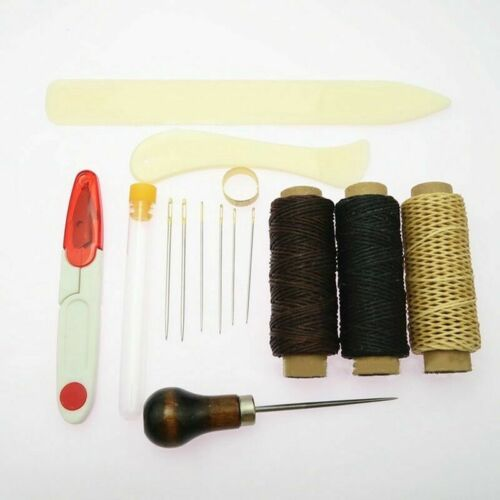 Bookbinding Bone Folder Creaser Waxed Linen Thread Wood Handle Awl Lar Trend