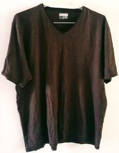 Pre-Owned-Men-s-Brown-INC-International-Concepts-V-Neck-Shirt-Size-2X
