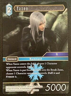 Final Fantasy TCG Forward Ice Opus XI Rare Kadaj 11-027R