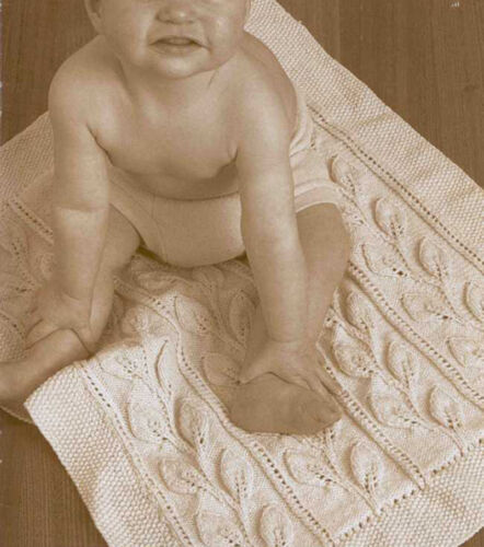Baby Pram Rug Trailing Leaves pattern-see description Knitting Pattern