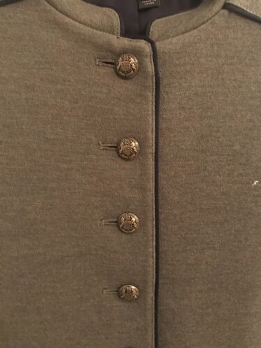 Style Crew 100 Jacket 00 Military Brown Cotton Lined J Women's Størrelse 5xS1aY