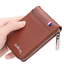 Mens-RFID-Blocking-Leather-Soft-Wallet-Credit-Card-Holder-Purse-With-Zip thumbnail 11