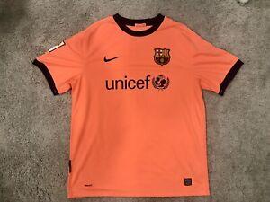 MEN NIKE FC BARCELONA 2009/2010 AWAY SOCCER FOOTBALL SHIRT JERSEY MAILLOT SIZE L