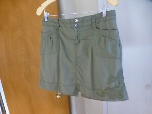 Cotton Hunter Size With 8 Green Blend Skirt Stretch Floral Rei Embroidery 8pAd8