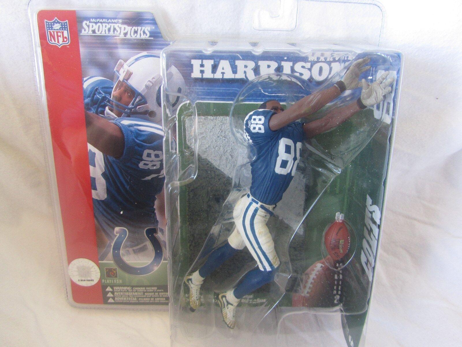 McFarlane NFL Serie 2 Marvin Harrison Super Chase Variante-sin casco (raro)