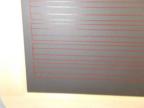 """Schwamm /""""richtige/"""" Schiefertafel Tafel A4 roten Linien /& Karos L Kunstgriffel"""