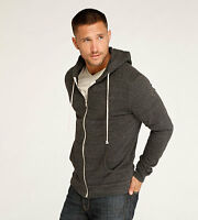 Threads 4 Thought Triblend Zip Front Hoodie Heather Black