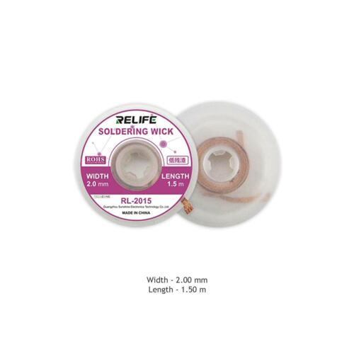 RELIFE Soldering Wick Braid Desolder Desoldering Wire Solder Fluxed Remove