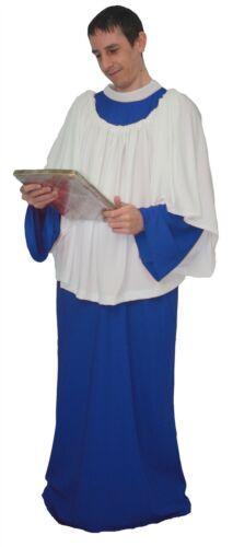 Adults Royal Blue Religious Choir or Alter Boy Church Singer Fancy Dress Costume
