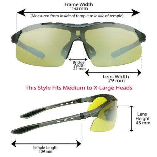 Z87 Safety Motorcycle Sunglasses FOAM CUSHION Special Ops Clear Yellow Lens