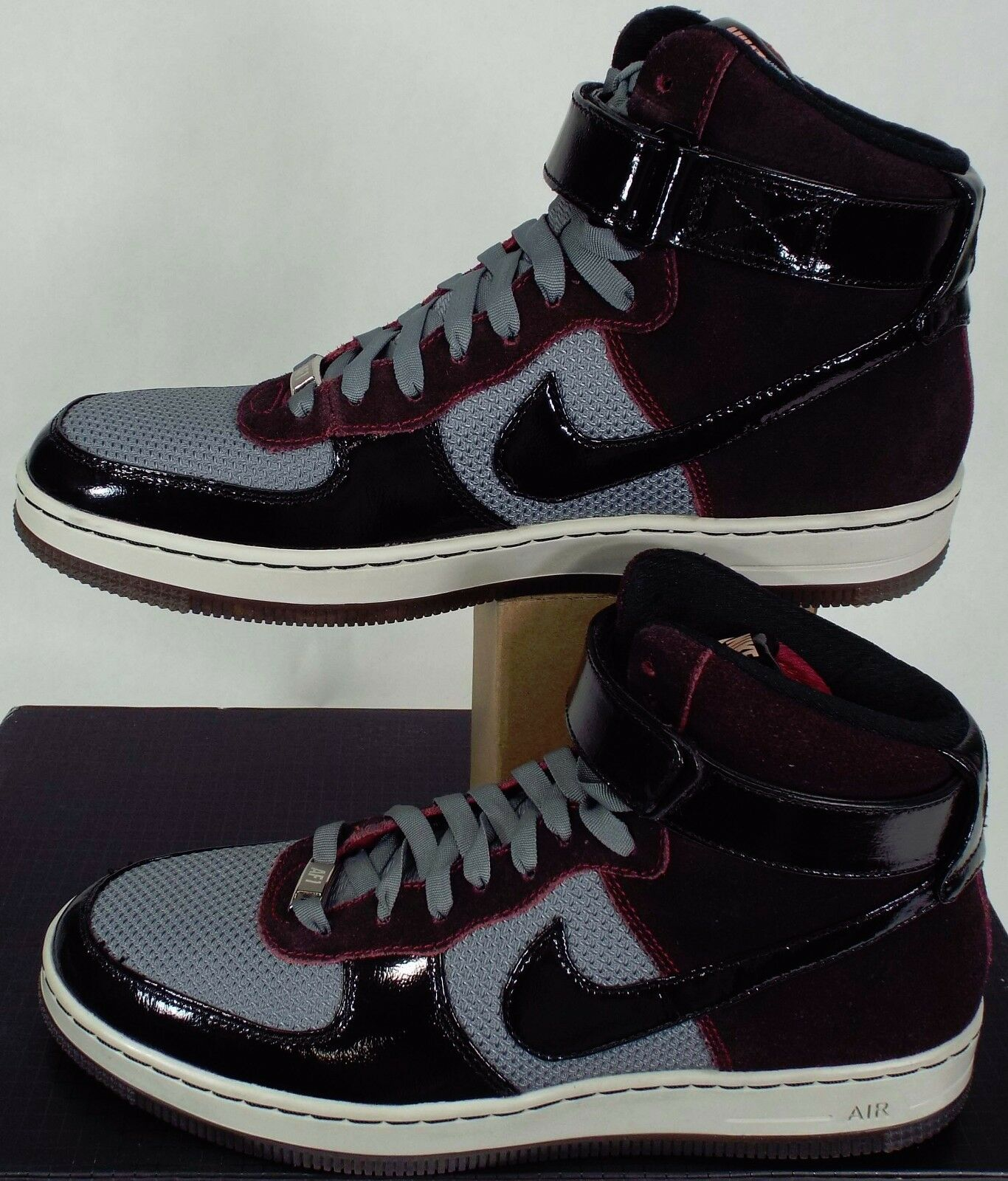 New Mens 9.5 NIKE AF1 Downtown HI Noble Red Black Fusion shoes  145 574887-600