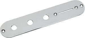 920D Custom Blank 3-Hole T Style Control Plate Chrome