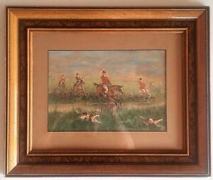 Listed-USA-Artist-Alfred-Villiers-Farnsworth-1858-1908-w-c-8-034-x-11-034-Signed