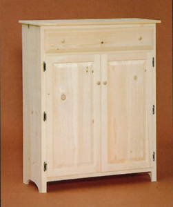 Image Is Loading NEW AMISH Unfinished Solid Pine Primitive Jelly Cabinet