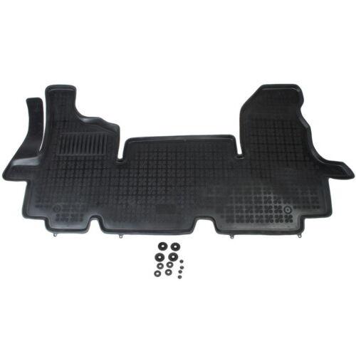 Gummi Renault Master II 2003-2010 Vorderseite Schwarz 1 Stück Fußmatten