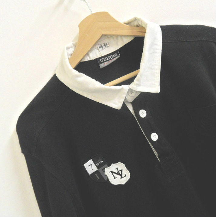 Mens Kappa New Zealand Rugby Polo Shirt Long Sleeve Top Size XL   A322
