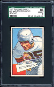 1952-Bowman-Small-62-Walter-Michaels-RC-SGC-88-NM-MT-Cleveland-Browns