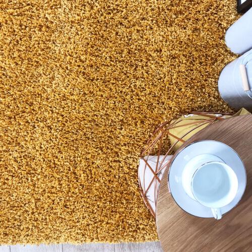 Ocre moutarde Salon Tapis Doux Chaud Jaune Gris Géométrique Tapis Meilleure Rugs UK
