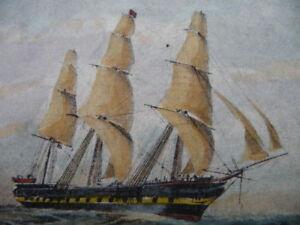 EAU-FORTE-XIX-MARINE-fregate-THE-DUNCAN-DUNBAR-numerote