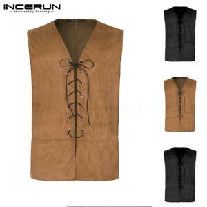 Mens-Womens-Medieval-Pirate-Waistcoat-Steampunk-Gothic-Vest-Costume-Renaissance