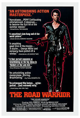 Mad Max Movie Poster Road Warrior Mel Gibson 80/'s  Canvas Art Print
