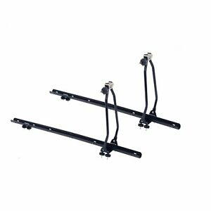 Car Roof Mount Rack Bar Rail Mounted Upright Cycle Bike Bicycle Carrier