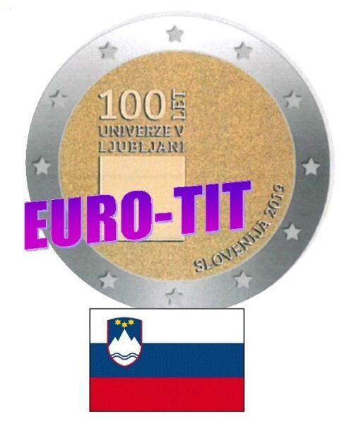 Impartial 2 € Slovenie Commemorative 2019 1 X Piece Nouveau Ljubjana 2019 2019