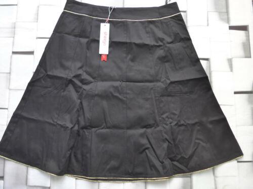 44 bis 52 schwarz mit Streifen 918 Sheego Rock Stretch A-Linie Gr NEU