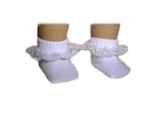 3b6b0f5f14cf8 White Lace Trim Ankle Socks Fits 18 Inch American Girl Dolls