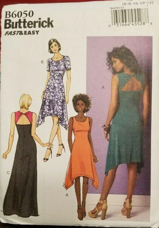Butterick 6031 Pattern Sz 6-22 Slip Camisole Nightie Negligee Underwear Lingerie