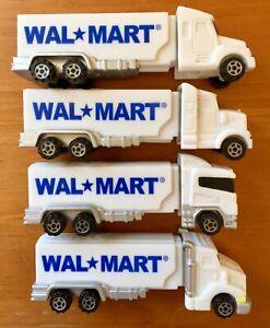 PEZ-Walmart-Truck-Dispenser-2004-Complete-4-Lot-Different-White-Rig-Styles-Mint
