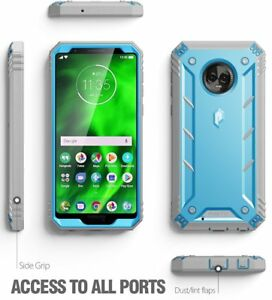 watch 16fa2 cf91f Details about Poetic Revolution Series Blue Case【360 Degree Protection】For  Motorola Moto G6