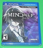 Mind Zero Playstation Vita Factory Sealed