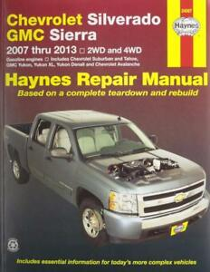 haynes chevrolet silverado 07 13 1500 2500 3500 owners service rh ebay co uk 2013 Chevy Captiva Repair Manual 2013 chevy silverado 2500hd diesel owners manual