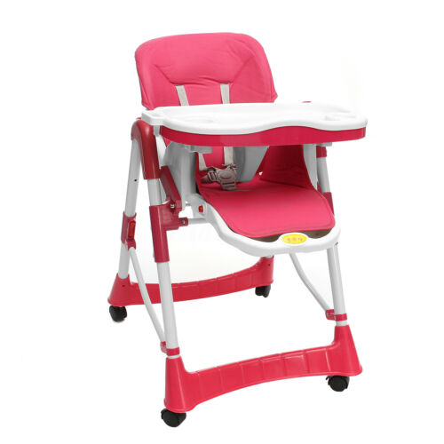 Adjustable Baby High Chair Infant Toddler Feeding Booster Folding Safe Portable