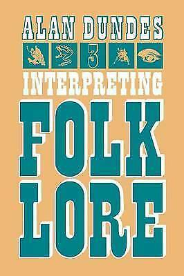 Interpreting Folklore by Dundes, Alan A. (Paperback book, 1980)