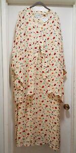 Ulla-Popken-Plus-Size-28-30-Lovely-Spring-Lined-2-Piece-Dress-NWT-CHURCH-BRUNCH